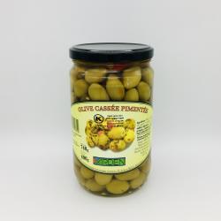 Olive Cassée Pimentée