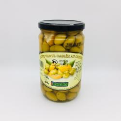 Olive Verte Cassée Citron